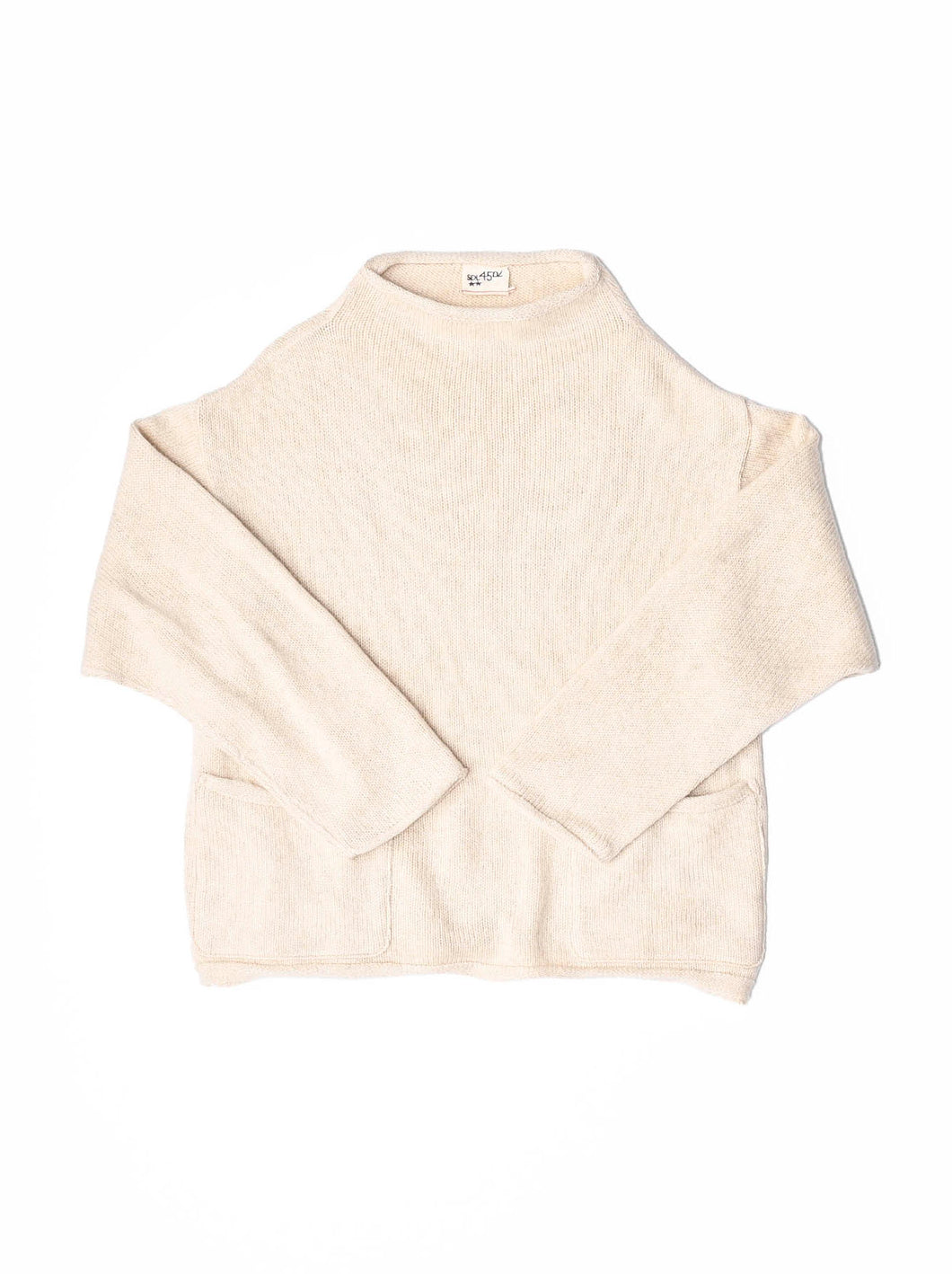 45 Star Cashmere Umahiko Sweater in white
