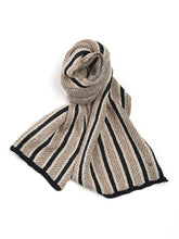 Double Jacquard Muffler in Beige