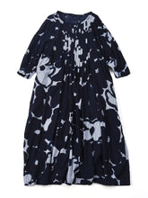 Hickory Furoshikii Print Dress in mokumoku