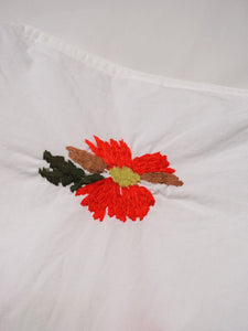Damp Cotton Flower Embroidered Yakko Shirt