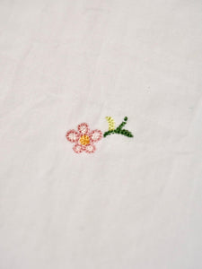 Damp Cotton Small Flower Embroidered Goo-Goo Shirt