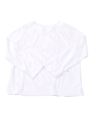 SA Zimba Cotton Square 3/4 Sleeve T-Shirt in white