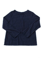 SA Indigo Zimba Cotton Square 3/4 Sleeve T-Shirt in indigo