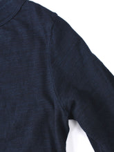 SA Indigo Zimba Cotton Square 3/4 Sleeve T-Shirt