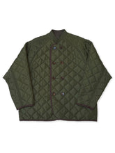 Nylon Quilted Jacket in Green