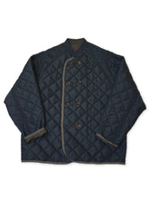Nylon Quilted Jacket in Navy