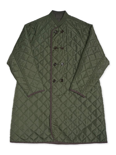 Nylon Quilted Coat in Green
