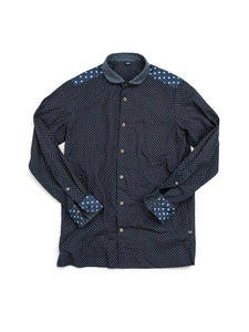 Dot 908 Round Collar Shirt