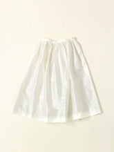 Silk Shantung Vintage Skirt in White