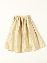 Silk Shantung Vintage Skirt in Brown