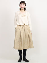 Women's Silk Shantung Vintage Skirt