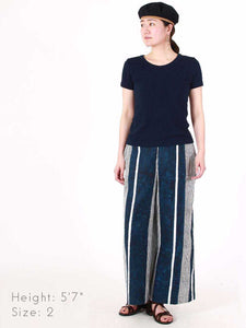 Silk Satin Hickory Wide Pants
