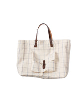 Linen Tote bag in White
