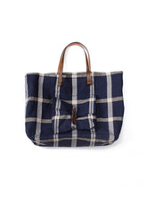 Linen Tote bag in Navy