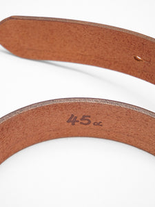 Simple Color Wide Leather Belt