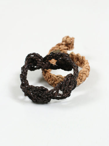 Leather Knitted Bracelet