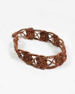 Leather Knitted Belt