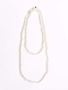 Silk Tweed Necklace in White