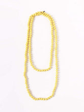 Silk Tweed Necklace in Yellow