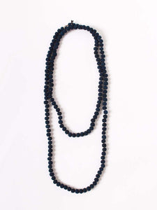 Silk Tweed Necklace in Dark Ai
