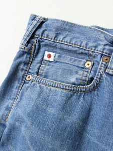 Kachin Indigo Hikohime Distress Denim Pants