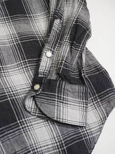 Unisex Linen Buffalo Check 908 Eastern Shirt
