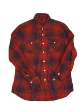 Linen Buffalo Check 908 Eastern Shirt in Red