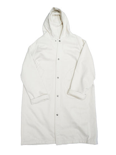 Mouton Urake 908 Hooded Coat in White