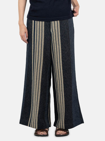 Rug Hickory Jacquard Wide Pants