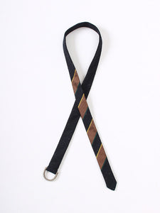 Regiment Ribbon Belt in Black