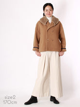 Melton P Wrap Jacket Mouton Collar