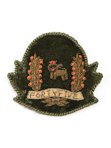 Emblem Brooch (Lion) in Green