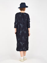 Women's Indigo Frill Print Dress