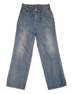 Okome Charlotte Denim in Distressed Indigo