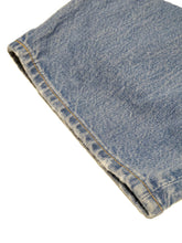 Indigo Distressed Wide Denim Pants