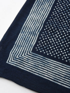 Indigo Jersey Cotton Dot Bandana