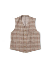 Moku-Moku Tweed 908 Vest in Beige