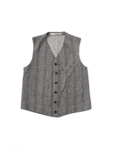 Moku-Moku Tweed 908 Vest in Grey
