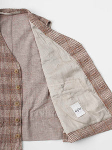 Unisex Moku-Moku Tweed Cotton Linen 908 Vest