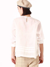 Feather Khadi Silk Lace Blouse