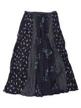 Indigo Print Mix Skirt in Indigo Mix
