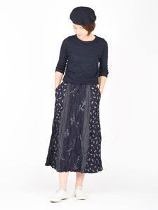 Indigo Print Mix Skirt