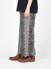 Dungaree Print Wide Pants