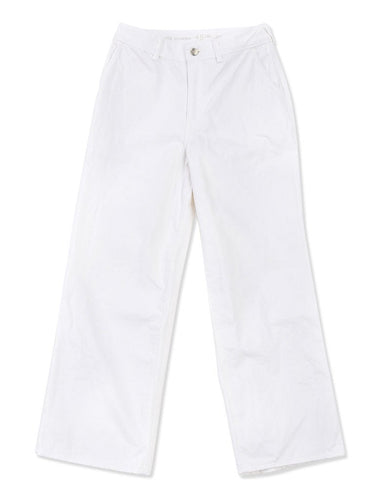 White Charlotte Denim Cotton Pants