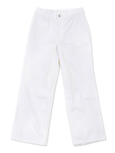 Wide Leg White Denim Pants