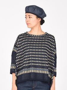 Women's Indigo Jacquard Big T-Shirt