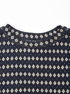 Indigo Jacquard Big T-Shirt