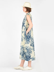 Women's Indigo Spring Hill Print Cotton Dress