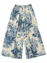 Indigo Spring Hill Print Pants in Indigo Discharge Color