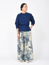 Women's Indigo Spring Hill Print Cotton Pants
